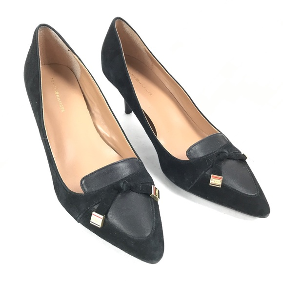6a3d1a8e Tommy Hilfiger Shoes | Stiletto Heels Black Suede 39 | Poshmark